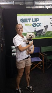 Alison Ansell with Chibi - a Get Up and Go Customer!